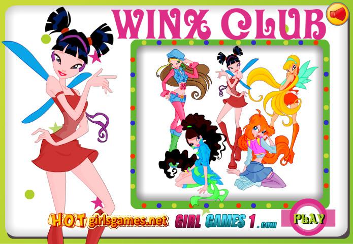 Красочная онлайн раскрасска Winx