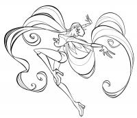 Раскраски про винкс - радость Стеллы