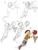 Велосипедист рисунок карандашом – Урок рисования для детей — рисуем спортсменов / Уроки рисования карандашом для детей, учимся рисовать поэтапно, детские рисунки / Лунтики. Развиваем детей. Творчество и игрушки