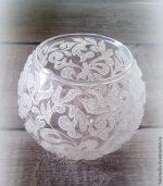 Узоры на вазе рисунок – Морозный узор на вазе – Ярмарка Мастеров