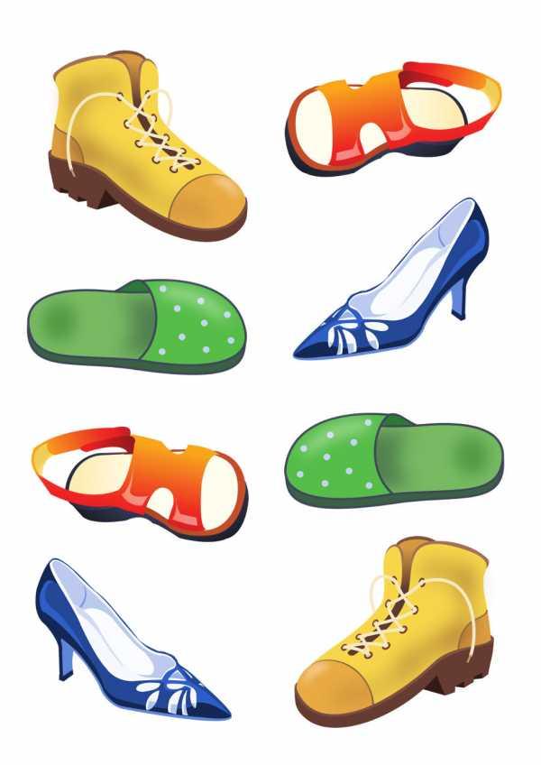 Картинки с обувью для детского сада, приятного