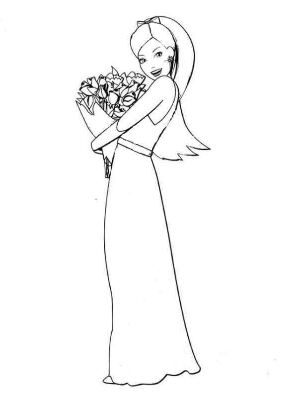 Женщина рисунок карандашом в полный рост в платье