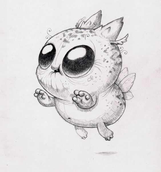 Смешные картинки для срисовки легкие с животными
