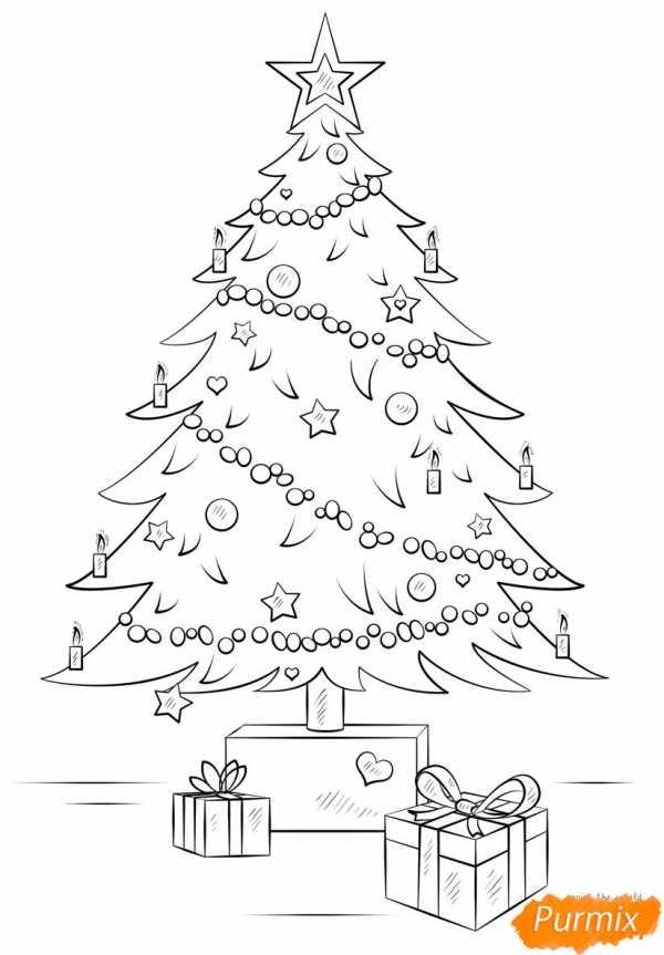 Открытки с елкой нарисованная карандашами, днем