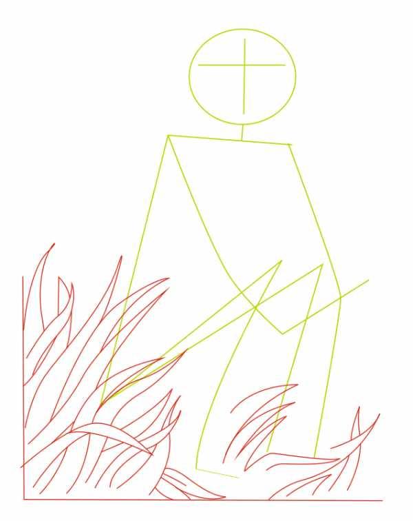Кикимора рисунок поэтапно