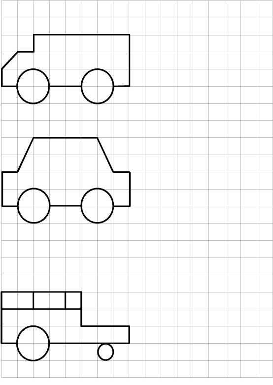 Как нарисовать по клеточкам машины – Рисунки машины по ...