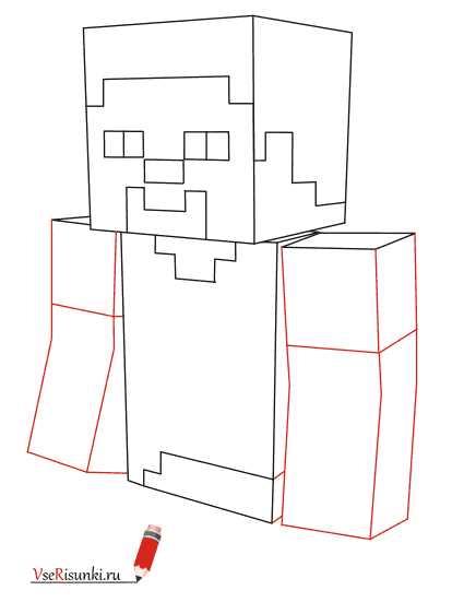 рисуем мобов из майнкрафт поэтапно #11