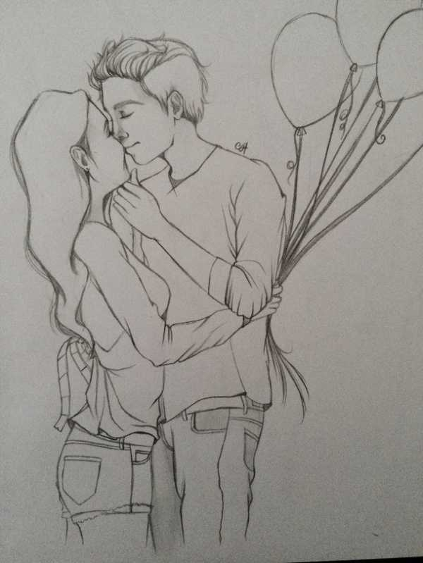 Картинки нарисованные карандашом влюбленные пары