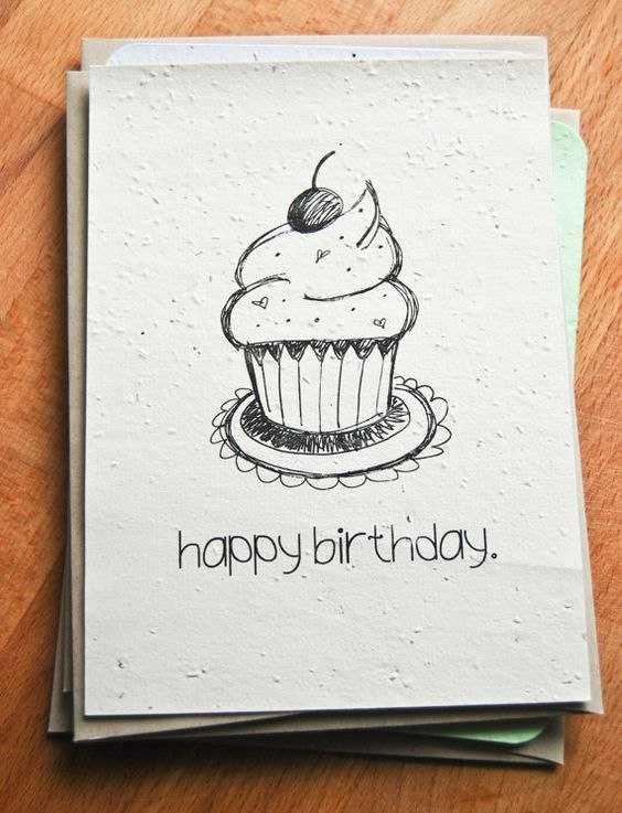Крутые рисунки карандашом на день рождения, юбилеем