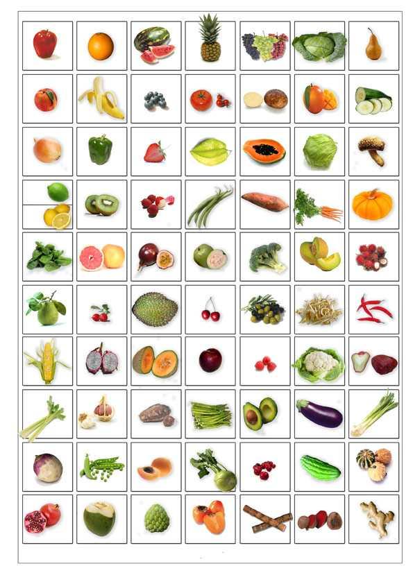 Фрукты и овощи на английском языке в картинках, оригами