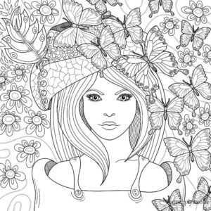 раскраски антистресс в хорошем качестве девушки раскраски