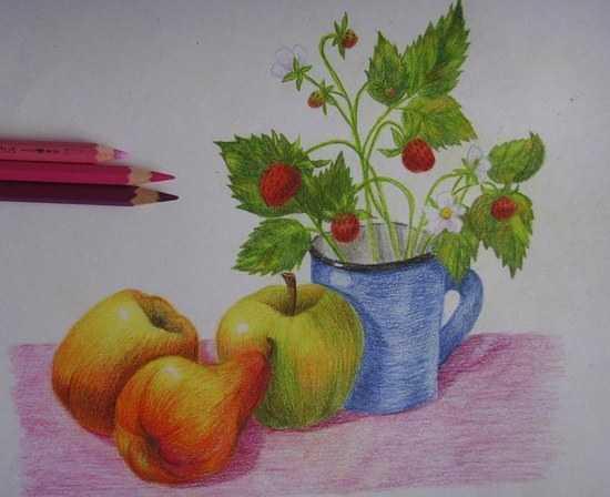 Изо рисуем яблоко