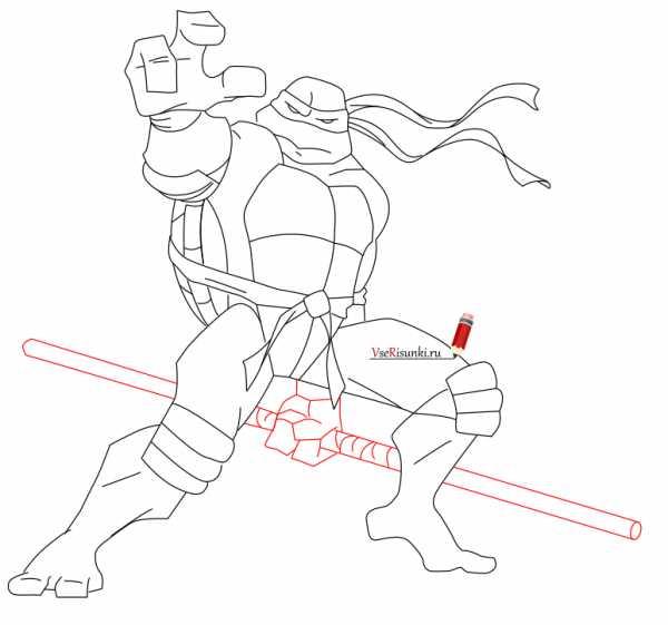 Рисуем ниндзя черепашки ниндзя – Как нарисовать черепашек ...