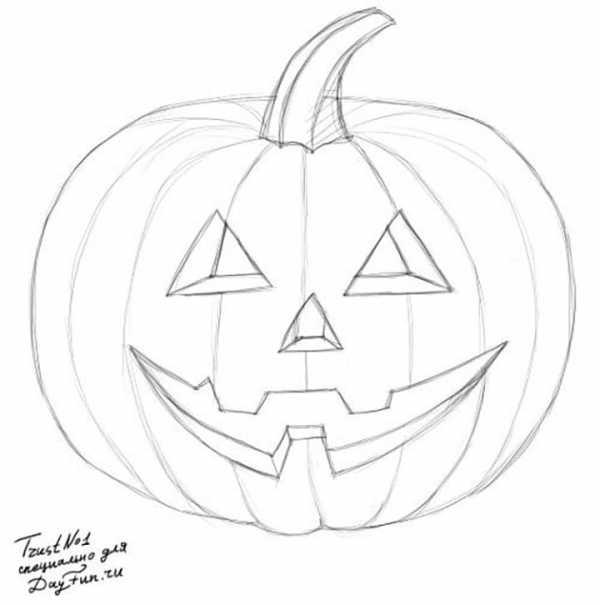 Анимация, картинки тыквы на хэллоуин как нарисовать