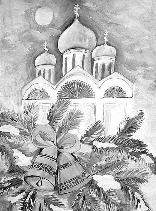 Картинка на рождество легкая