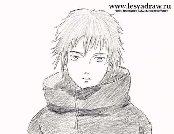 Рисунок саске карандашом – Ой! Уроки рисования для ...