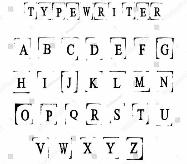 Шрифт печатной машинки русский для word – Лучшие печатные ...