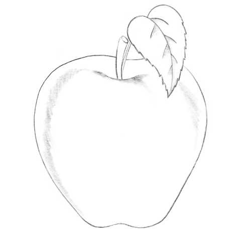 Яблоко карандашом с тенью – Как нарисовать яблоко ...
